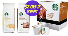 Starbucks: $2 off 2 Packaged Coffee Products Coupon!