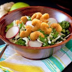 Lunchtime really can be both satisfying and healthy. The proof is in this crazy-delicious Crunchy ‪#‎Kale‬ Salad with Popcorn Shrimp, from Rachel Cooks