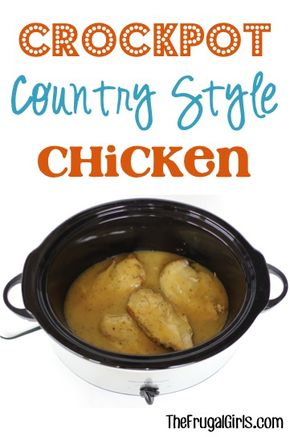 Crockpot Country Style Chicken Recipe! ~ from TheFrugalGirls.com ~ this easy and delicious Slow Cooker Dinner is the perfect home-cooked meal with hardly any effort! #slowcooker #recipes #thefrugalgirls
