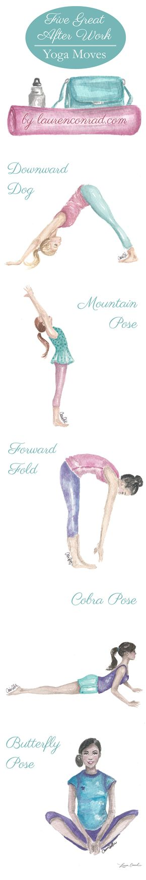 Get Fit: The 5 Best After-Work Yoga Poses - Get Fit: The 5 Best After-Work Yoga Poses
