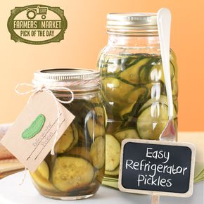 Easy Refrigerator Pickles - Easy Refrigerator Pickles Recipe from Taste of Home