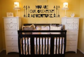 You Are Our Greatest Adventure Nursery or Child's Room Arrow Vinyl Wall Decal - You Are Our Greatest Adventure Nursery or Child's Room Arrow Vinyl Wall Decal Nursery decor, decal, wall art, Baby room quote
