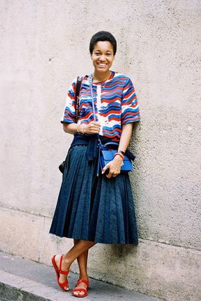 Paris Couture Fashion Week AW 2014....Tamu (Vanessa Jackman) - Street style
