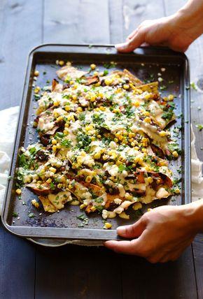Healthy Grilled Sweet Potato Nachos - healthy nachos