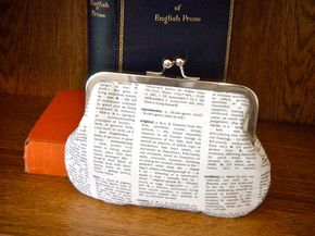 Bookish dictionary clutch pouch - Bookish hand bag