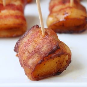 Bacon Wrapped Butternut Squash Bites (Low Carb and Paleo - Bacon Wrapped Butternut Squash Bites (Low Carb and Paleo) - Holistically Engineered  Made this last night for a party and it was a big success.