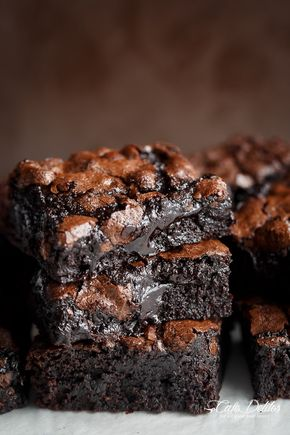 Best Fudgy Cocoa Brownies - Pinterest: lilybug003