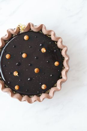 """Fred"", a Chocolate Tart of Orange, Cinnamon, and Caramel Fleur de Sel - orange chocOlate tart with cinnamon & caramel fleur de sel"