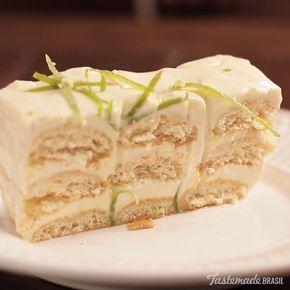 Lemon Cream Dessert - Add more zest to your life with this creamy lemon dessert terrine.