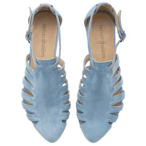 Last Sizes Light Blue Sandals Alice Flats Leather Sandals Handmade... (170 CAD) ❤ liked on Polyvore featuring shoes, sandals, silver, women's shoes, light blue shoes, light blue flats, genuine leather shoes, leather footwear and flat heel shoes