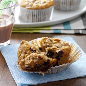 Chocolate Chip Oatmeal Muffins - Chocolate Chip Oatmeal Muffins Recipe from Taste of Home