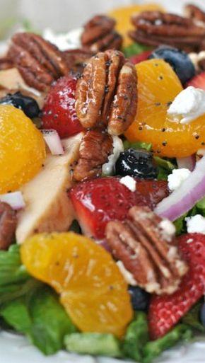 Strawberry Pecan Salad - Strawberry Pecan Salad