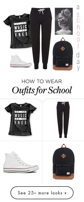 Polyvore featuring Topshop & Converse