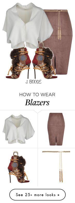 """""""Untitled #377"""" by piinkdreamss on Polyvore featuring River Island, Dsquared2, Forever New and Vionnet"""