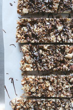 salted dark chocolate nut bars - salted chocolate nut bars