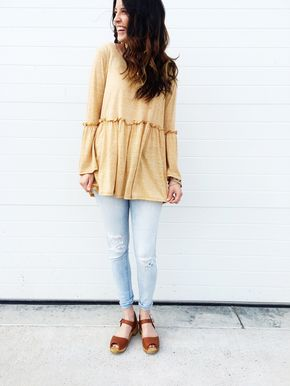 Muir Woods Blouse *RESTOCKED - Happy Day Blouse in Mustard | ROOLEE