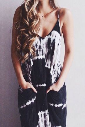 50 Chic Summer Outfits - #summer #fashion / boho black and white