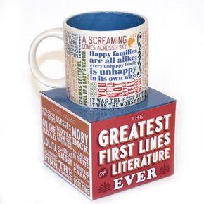 Greatest First Lines of Literature Mug $13.00  #EnglishTeacherGifts