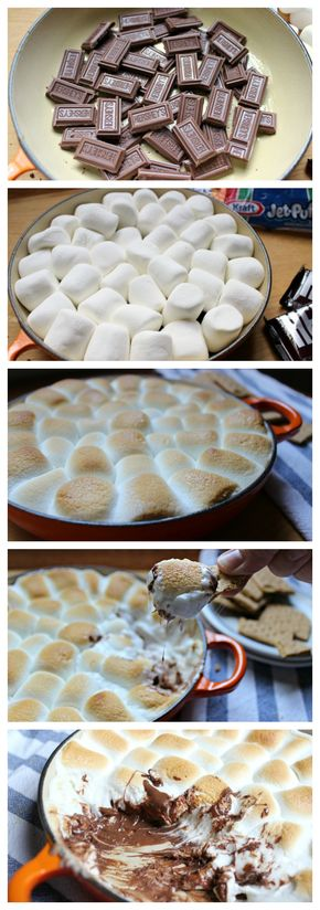 S'mores Dip - This recipe is awesome!  It's so easy to make S'mores without a campfire.  (Perfect for when it's raining.)  Check out this fun recipe for the family. #HersheysSummer #ad