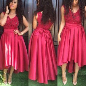 Short Front Long Back V-Neck Prom - Short Front Long Back V-Neck Prom Dresses,Long Prom Dresses,Cheap Prom Dresses, Evening Dress Prom Gowns, Formal Women Dress,Prom Dress,