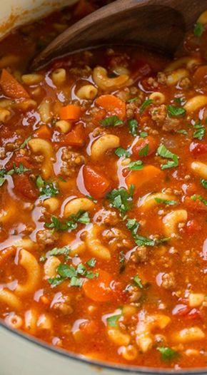 Beef and Tomato Macaroni Soup - beef and tomato macaroni soup