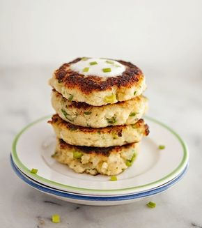 Parmesan Cauliflower Fritters (Low Carb & Gluten-Free) - Parmesan Cauliflower Fritters (Low Carb & Gluten-Free)