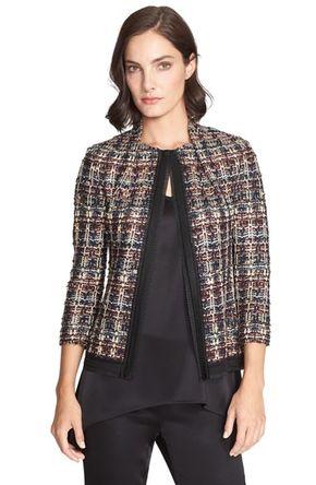 Women's St. John Collection Opulent Tweed Jacket -