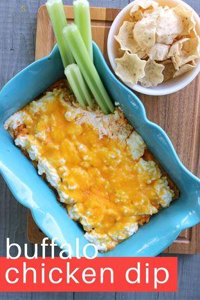 Easy Baked Buffalo Chicken Dip - This easy baked buffalo chicken dip recipes is the perfect appetizer for game day!  I can't wait to make it again. #ad