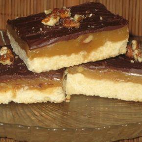 Caramel Nut Squares - Caramel Nut Squares