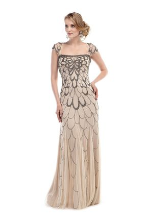 GLOW G263 Beaded Flapper or Great Gatsby Style Prom Dress Evening Gown - GLOW G263 Beaded Flapper or Great Gatsby Style Prom Dress Evening Gown