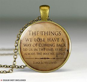 Harry Potter Luna Lovegood quote pendantquote by resincherry, $11.95 I'm such a Harry Potter Geek