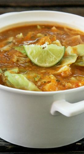 10 Hearty Winter Soups That Burn Fat - Fat Burning Cabbage Tortilla Soup