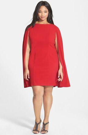 Plus Size Women's Adrianna Papell Cape Sheath Dress - Adore