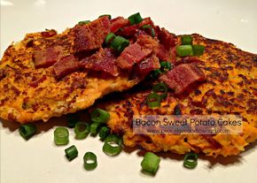 Bacon Sweet Potato Cakes (Low Carb, Paleo, Gluten-Free - Bacon Sweet Potato Cakes (Low Carb, Paleo, Gluten-Free) | Peace, Love, and Low Carb
