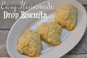 Drop Biscuit #Recipe and Campbell's® Homestyle Light Soup - Drop Biscuits, Easy Homemade biscuits, biscuit recipe, Easy Drop Biscuits #AD @Campbell's