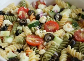 Feta and Vegetable Rotini Salad - Feta and Vegetable Rotini Salad