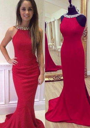 Backless Prom Dresses,Red Prom Dres - Backless Prom Dresses,Red Prom Dress,Backless Prom Gown,Open Back