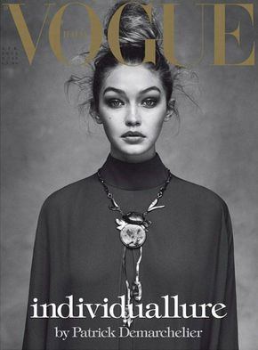 runwayandbeauty: Gigi Hadid wearing Valentino for Vogue Italia April 2016. (Cover) Ph: Patrick Demarchelier