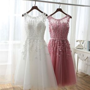 Floral Lace Appliqué Sheer Sweethe - Floral Lace Appliqué Sheer Sweetheart Illusion Short A-Line Tulle Homecoming Dress