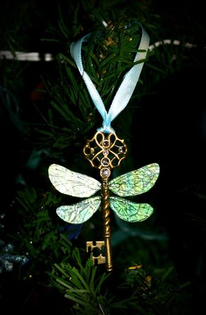 New Year Sale Flying Winged Key Themed Ornament - Harry+Potter+Sorcerer's+Stone+Winged+Key+by+Christalinasales,+$12.00