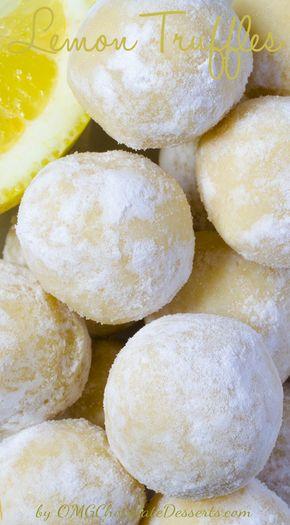 White Chocolate Lemon Truffles - White Chocolate Lemon Truffles | OMGChocolateDesserts.com | #chocolate #truffles #lemon #desserts