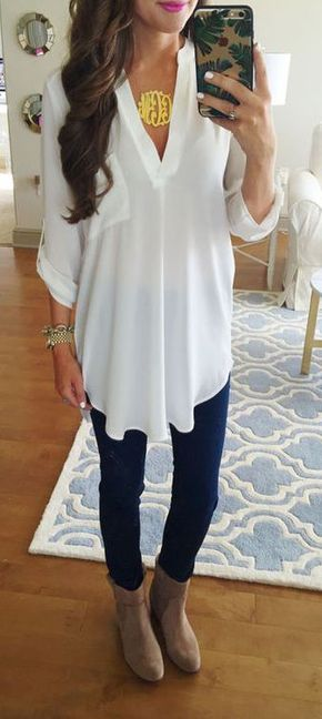 75+ Summer Outfit Ideas to Copy Right Now - #summer #fashion / blouse + denim