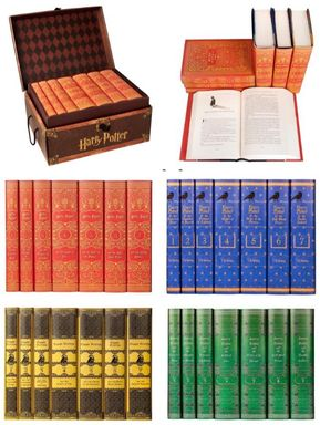 Harry Potter book sets to match your Hogwart's House
