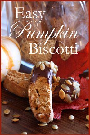 EASY PUMPKIN BISCOTTI - Easy Pumpkin Biscotti