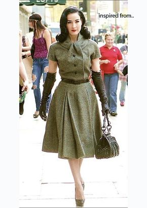KEIRA vintage inspired made to measure dress all size swing 50s - Classy