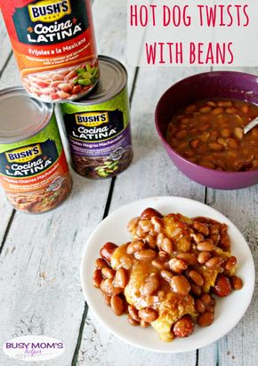 Hot Dog Twists with Beans - Hot Dog Twists with Beans / by BusyMomsHelper.com / This easy recipe will please the whole family, especially with #CocinaLatinaBeans #ad