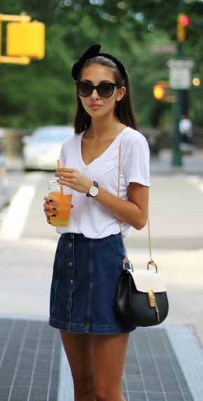 Button Front Skirt is Back With The New Trendiness - Button front denim skirt -- the new trendiness