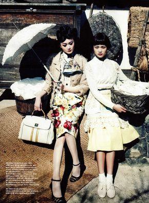 Lee Hye Jung and Han Eu Ddeum by Hong Jang Hyun for Vogue Korea May 2012 via Korean Models