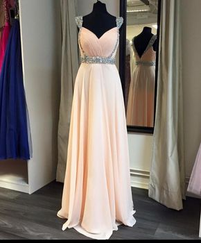 Prom Dresses,Evening Dress,A-Line C - Prom Dresses,Evening Dress,A-Line Cap Sleeve Long Chiffon Prom