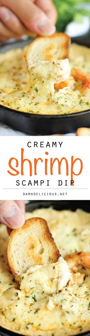 Shrimp Scampi Dip - Shrimp Scampi Dip - One of the best dips I've ever had, baked to absolute creamy, cheesy perfection!